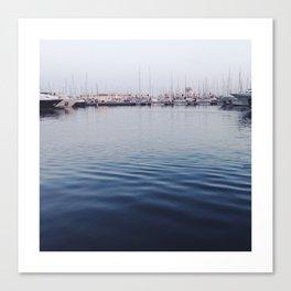 The Coast of Alicante. Boats, Masts... Like most harbors. Canvas Print