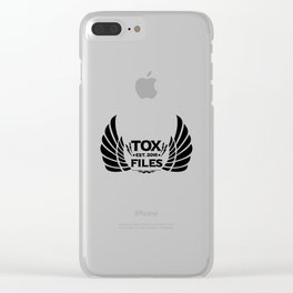 Tox Files - Black on White Clear iPhone Case