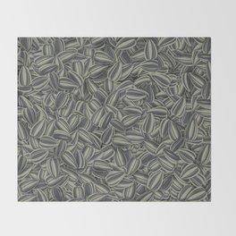 Pipas Mania (Spanish for sunflower seeds) Throw Blanket