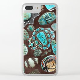 Vintage Navajo Turquoise stones Clear iPhone Case