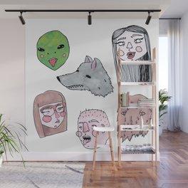 Friendly Nighbohood Monsters Wall Mural