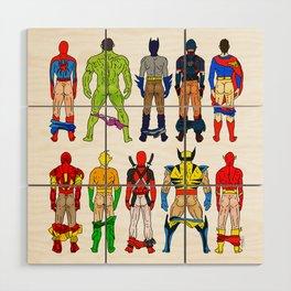 Superhero Butts Wood Wall Art