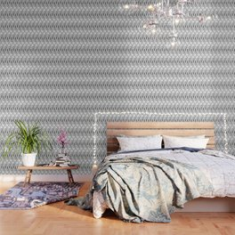 Art Deco 56 . black and gray spiral . Wallpaper