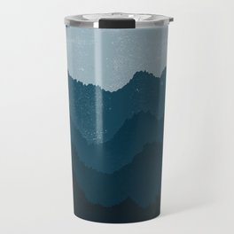 Mists No. 6 - Ombre Blue Ridge Mountains Art Print Travel Mug