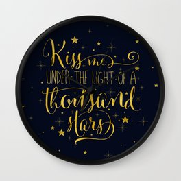 A Thousand Stars Wall Clock