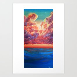 Sunlight Breaks Art Print