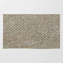 Light colored Brick Wall Rug