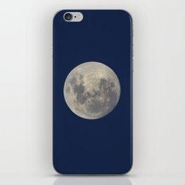 Super Blue Moon 2018 sunrise. Blue sky at sunset iPhone Skin