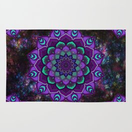 beauty mandala in purple Rug