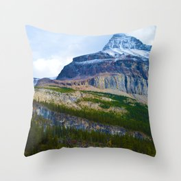 Highest Mountain in the Canadian Rockies; Mount Robson Throw Pillow