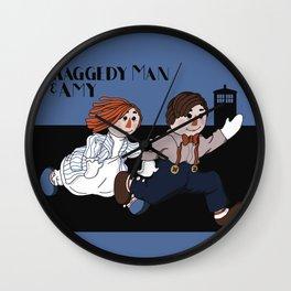 Raggedy Man and Amy Wall Clock