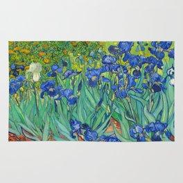 Vincent Van Gogh Irises Painting Rug