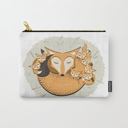 Mom fox Carry-All Pouch
