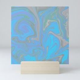Marbled Blues Mini Art Print