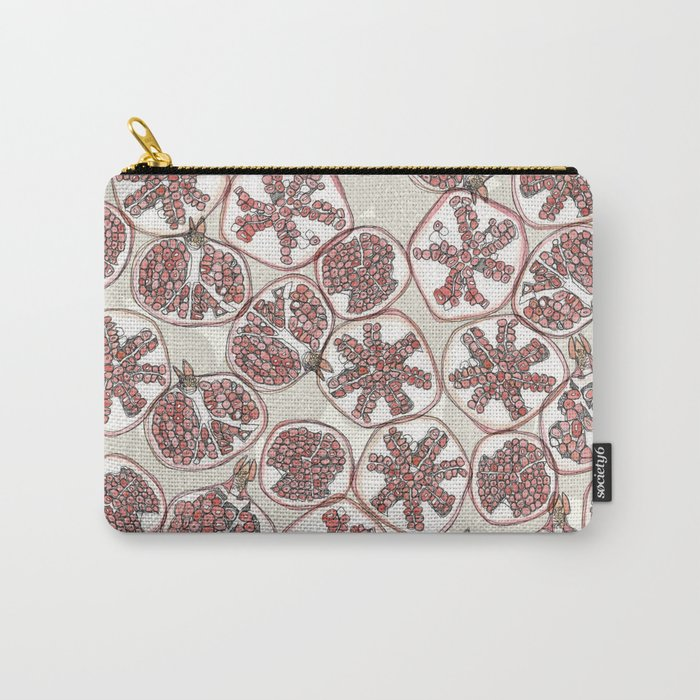 watercolor pomegranates Carry-All Pouch