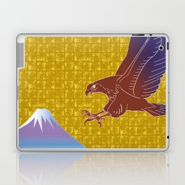 Eagle and Mt,Fuji on Gold-leaf Screen Laptop & iPad Skin
