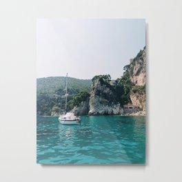 Mediterranean Beach Metal Print