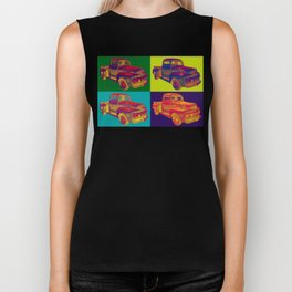 Colorful 1951 Ford F-1 Pickup Truck Pop Art  Biker Tank
