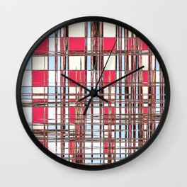 Abstract Coleus Wall Clock