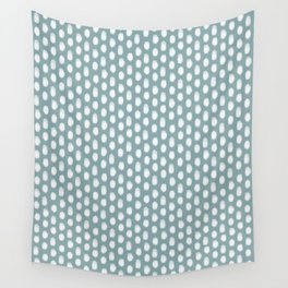 Dots . Blue Wall Tapestry