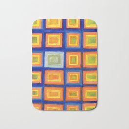 Square Pattern Beaming with Luminous Color Bath Mat