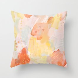 Abstract Watercolor Throw Pillow