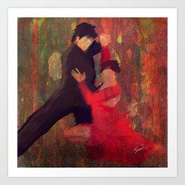 Tango de Fuego/Fire Tango Art Print