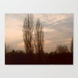 Sunset Sky in Leyland Canvas Print