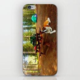 Saint Bernard Goes Camping iPhone Skin