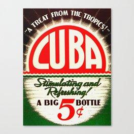Vintage Cuba Soft Drink Poster Canvas Print