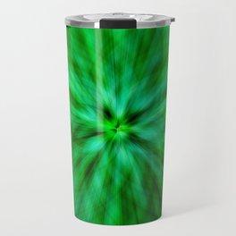 Green Star Flower Glow Travel Mug