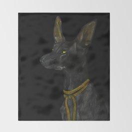 Egyptian Dog Throw Blanket