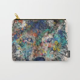 floral animals wolf Carry-All Pouch