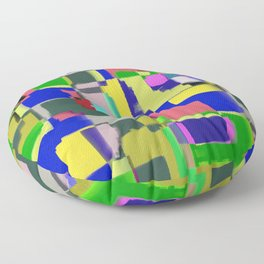 Raw Paint 3 - Colour Abstract Floor Pillow