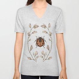 The Ladybug and Sweet Pea Unisex V-Neck