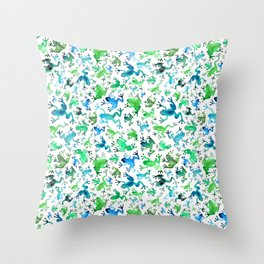 Tree Frogs Throw Pillow