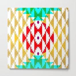 050 - traditional pattern interpretation with golden foil Metal Print