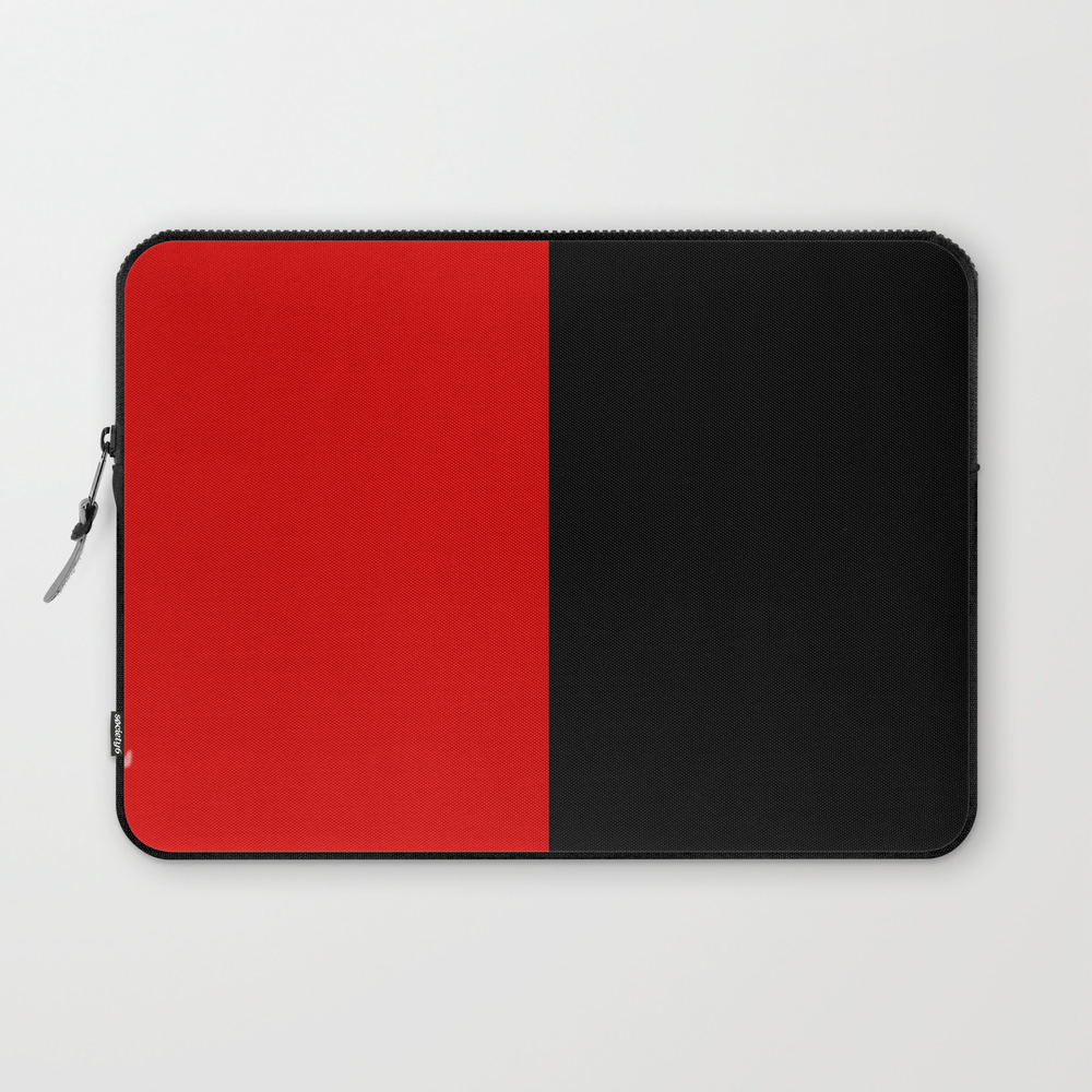 Psychedelic Black And Red Stripes Vii. Laptop Sleeve LSV9053204