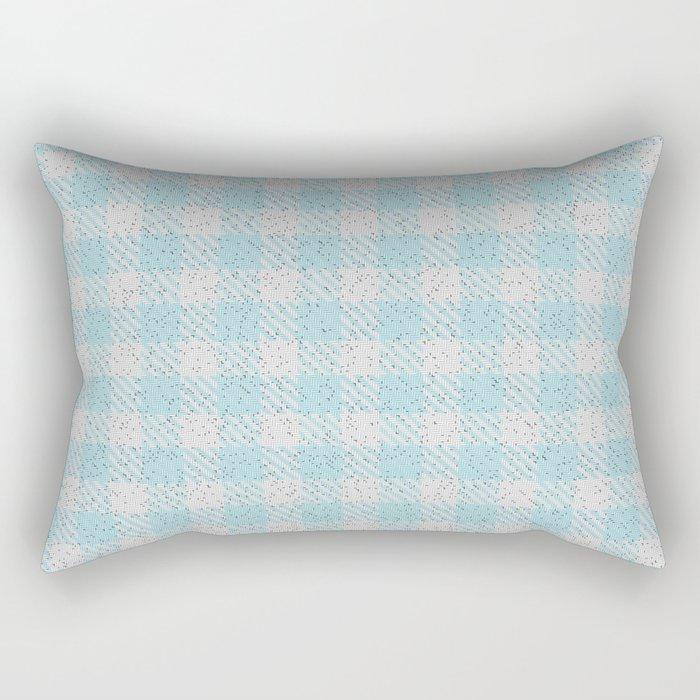 Light Grey Buffalo Plaid Rectangular Pillow