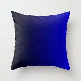 Rich Vibrant Indigo Blue Gradient Throw Pillow