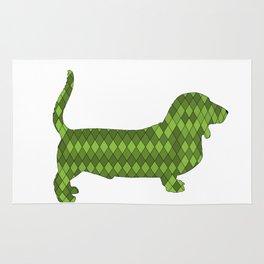 Basset hound Rug