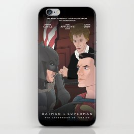 Batman/Superman BvS: Mid Afternoon of Justice iPhone Skin