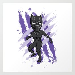 Black Panther (Splatter) Art Print