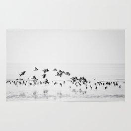 Wading birds in Flight Rug
