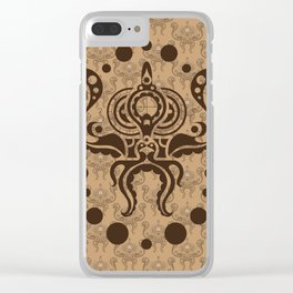 Victorian Octopus Clear iPhone Case