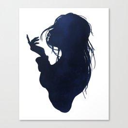 Sea breeze silhouette Canvas Print