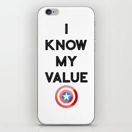I Know My Value iPhone Skin
