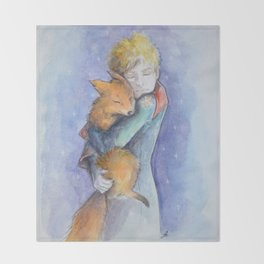 The little Prince and the fox Throw Blanket