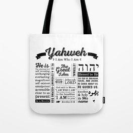 YAHWEH - I AM Who I Am - Names of God Tote Bag