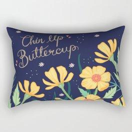 Chin Up Buttercup Rectangular Pillow